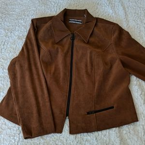 Brown collared jacket